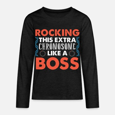 Down ROCKING THIS EXTRA CHROMOSOME LIKE A BOSS - Kids' Premium Longsleeve Shirt