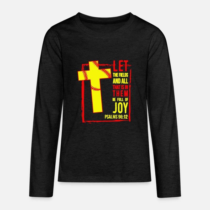 d50e1242 Softball T-Shirts - Softball Christian Softball Mom Shirt - Kids' Premium Longsleeve  Shirt