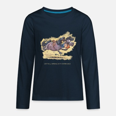 Norman Thelwell Thelwell Grip will improve - Kids' Premium Longsleeve Shirt