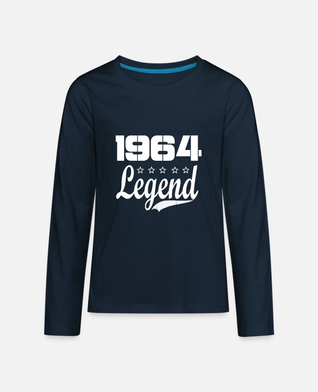 1964 Long-Sleeved Shirts - 64 legend - Kids' Premium Longsleeve Shirt deep navy
