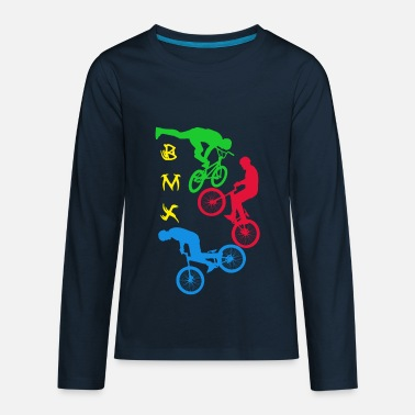 Bmx BMX,cycling,bike,bmx, - Kids' Premium Longsleeve Shirt