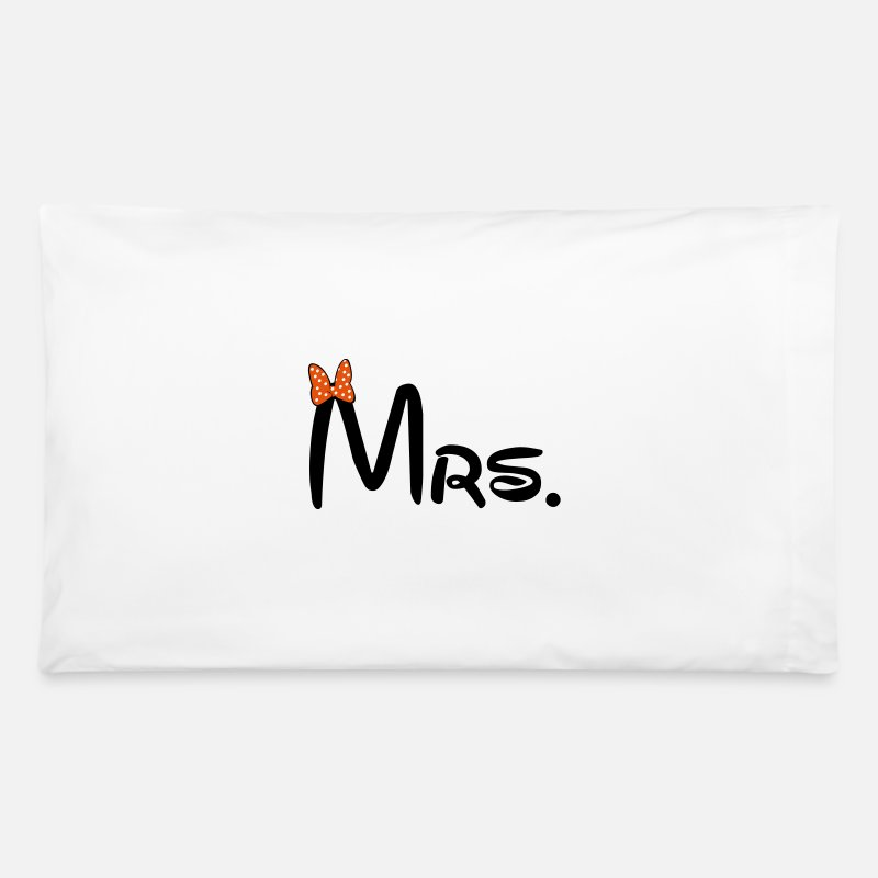 Couples Pillow Cases - Mrs. - Pillowcase 32'' x 20'' white