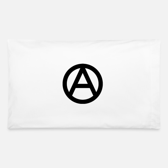 Black Pillow Cases - The Anarchy A Symbol  Anarchy Anarchist Logo black - Pillowcase 32'' x 20'' white