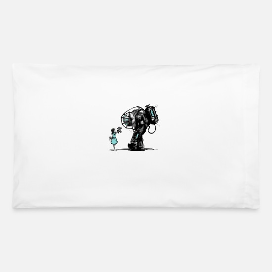 Geek Pillow Cases - Bioshock Big Daddy - Pillowcase 32'' x 20'' white