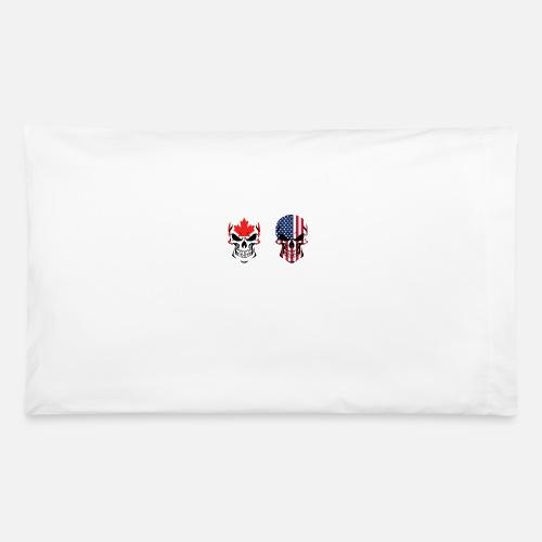 65c14764f7a Canadian American Flag SkullsPillowcase. Awesome Shirts
