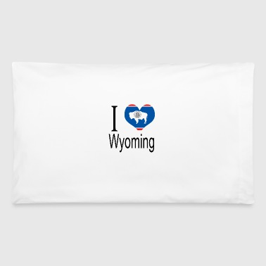 I Love Wyoming Heart Country USA gift flag - Pillowcase