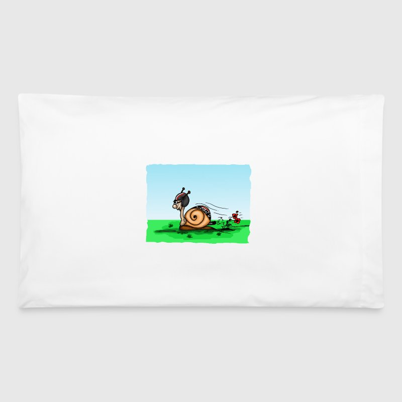 racing snail - Pillowcase