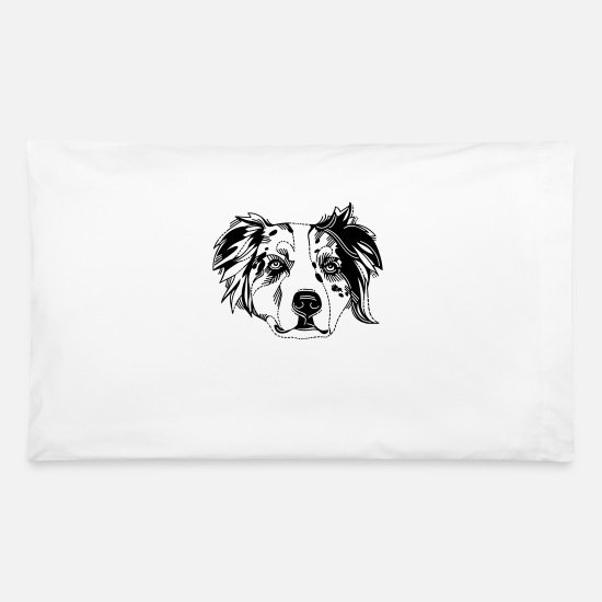 Shepherd Pillow Cases - Australian Shepherd - Pillowcase 32'' x 20'' white