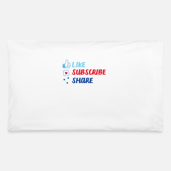 Subscribe Pillow Cases - Like Share Subscribe Social Media Online Follower - Pillowcase 32'' x 20'' white