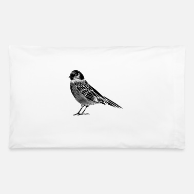 Bird Black and white drawing of a bird - Pillowcase 32'' x 20''