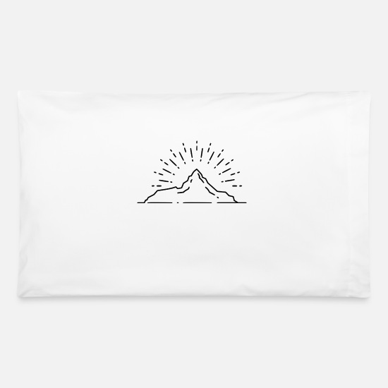 Boulder Pillow Cases - climber - Pillowcase 32'' x 20'' white