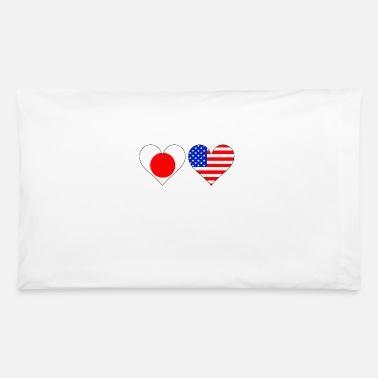 Japanese American Japanese American Hearts - Pillowcase 32'' x 20''