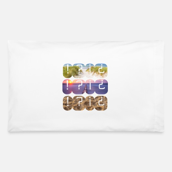 Sunrise Pillow Cases - Beach Water Sand - Pillowcase 32'' x 20'' white