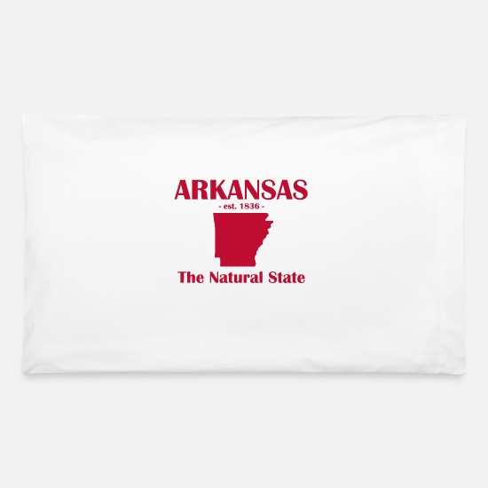 Arkansas Pillow Cases - Arkansas The Natural State est 1836 - Pillowcase 32'' x 20'' white