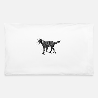 Black Labrador Dog Labrador, Black labrador, watercolor Labrador - Pillowcase 32'' x 20''