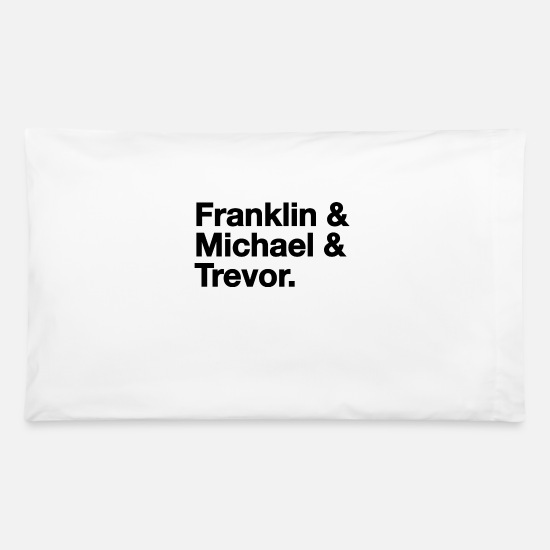 Watchdog Pillow Cases - Franklin, Michael and Trevor - Gaming - Pillowcase 32'' x 20'' white