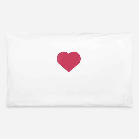 Love Pillow Cases - love bird - Pillowcase 32'' x 20'' white