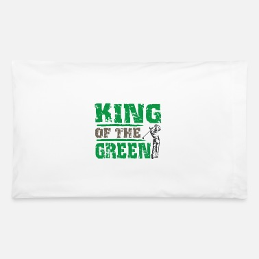Teenager Golfing Golfer Gift Idea Putt Grean Hole in one - Pillowcase