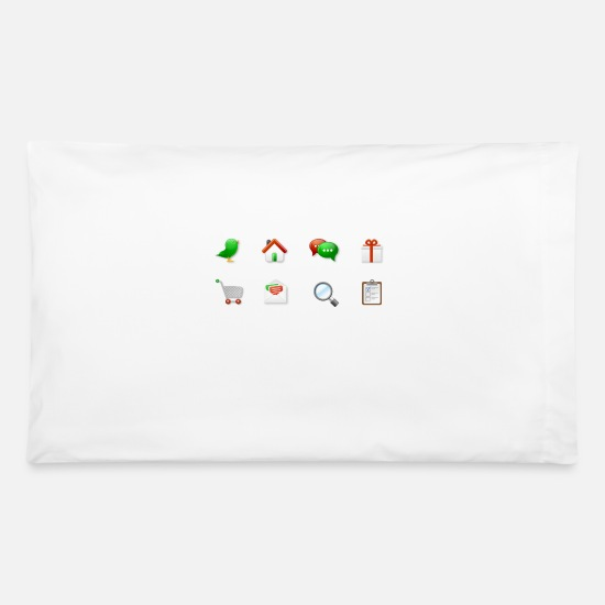 Image Pillow Cases - Icons Color Candy - Pillowcase 32'' x 20'' white