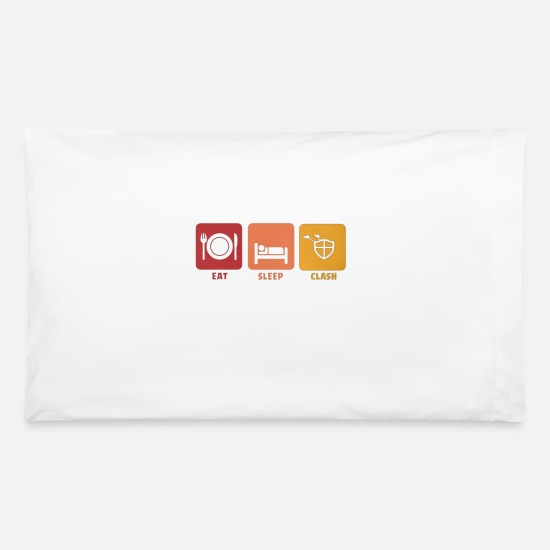 Clash Pillow Cases - eat sleep clash - Pillowcase 32'' x 20'' white