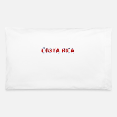 National Colours Costa Rica - National Colours - Flag - Slogan - Pillowcase 32'' x 20''