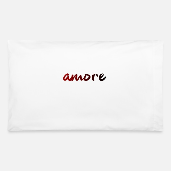 Lovely Pillow Cases - amore - Italia - Love - Italy - Roma - Venice - Pillowcase 32'' x 20'' white