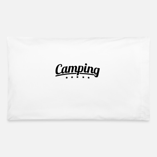 Tent Pillow Cases - We are camping stars - Pillowcase 32'' x 20'' white