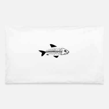 Blasen Fish skeleton white - Pillowcase