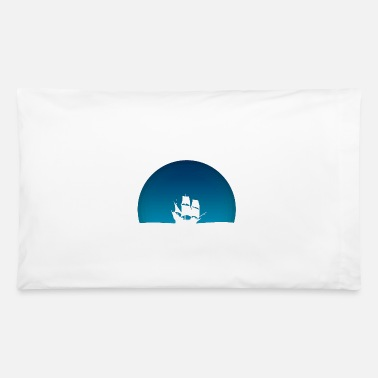Blue Sky Ship with blue sky - Pillowcase 32'' x 20''