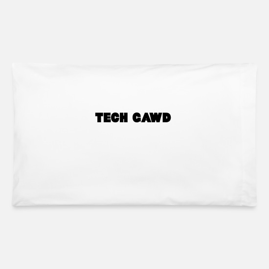 Tech Pillow Cases - TECH GAWD - Pillowcase 32'' x 20'' white