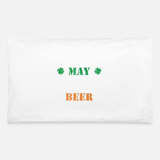 Alcohol Pillow Cases - May contain traces of beer - smile - Pillowcase 32'' x 20'' white