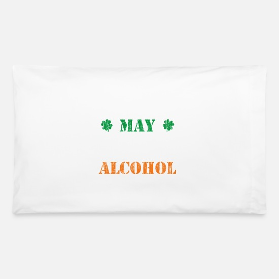 Alcohol Pillow Cases - May contain traces of alcohol - smile - Pillowcase 32'' x 20'' white