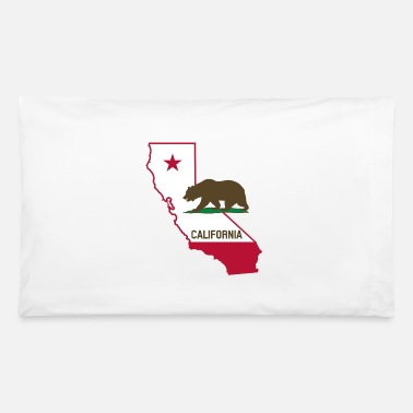 State CALIFORNIA STATE WITH STATE BEAR - Pillowcase 32'' x 20''