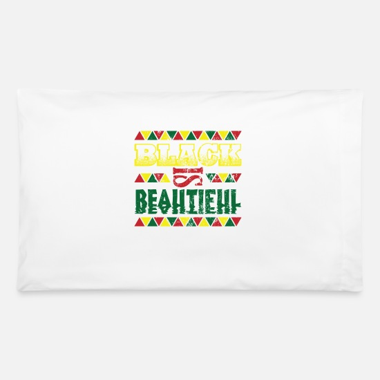African American Pillow Cases - Black Is Beautiful Black History Month - Pillowcase 32'' x 20'' white