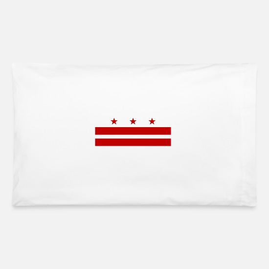 Washington D.c. Pillow Cases - washington DC flag - Pillowcase 32'' x 20'' white