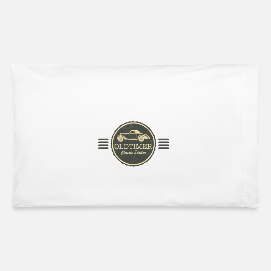 Car Pillow Cases - Oldtimer Classic Car Vintage Car - Pillowcase 32'' x 20'' white