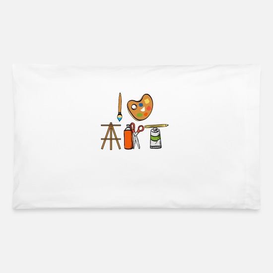 Color Pillow Cases - Painting Tee For Painters Artist Tools Tshirt - Pillowcase 32'' x 20'' white