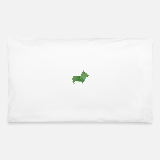 Gift Idea Pillow Cases - Origami Doggo - Pillowcase 32'' x 20'' white