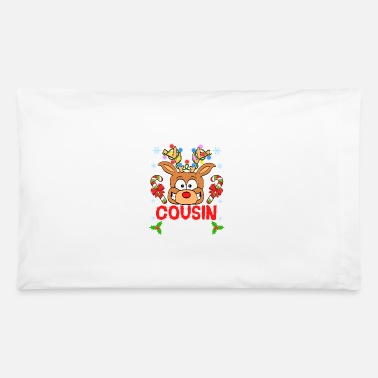 Shark Cousin Crew Reindeer Xmas Relative Rudolph - Pillowcase 32'' x 20''