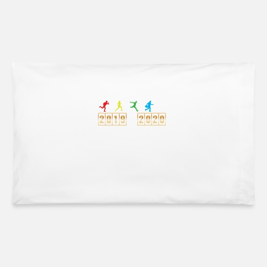 Christmas Pillow Cases - 2019 2020 Happy New Year 2020 January 1st - Pillowcase 32'' x 20'' white