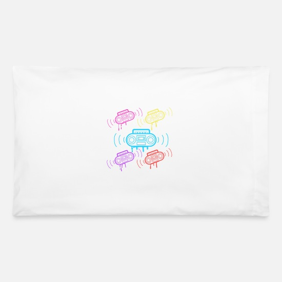 Disco Pillow Cases - Here's A Great 80's design A Colorful 80's Design - Pillowcase 32'' x 20'' white