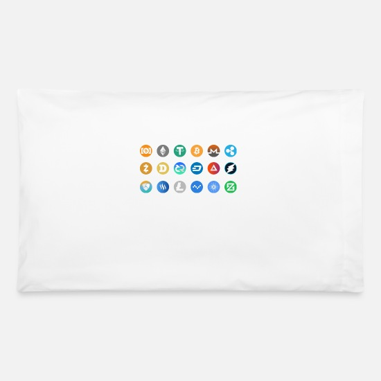 Xrp Pillow Cases - Kryptocurrency Pictogram - Pillowcase 32'' x 20'' white