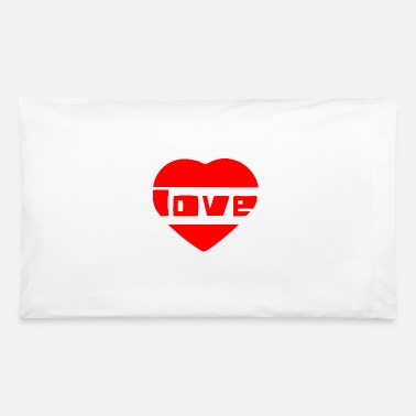 Love With Heart love with heart - Pillowcase 32'' x 20''