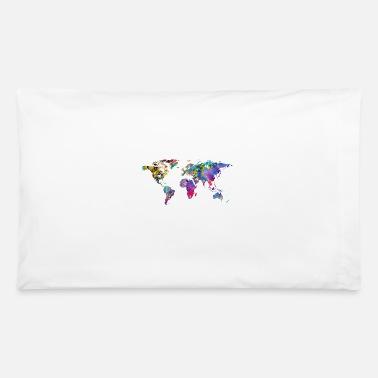 Shop World Map Pillow Cases Online Spreadshirt