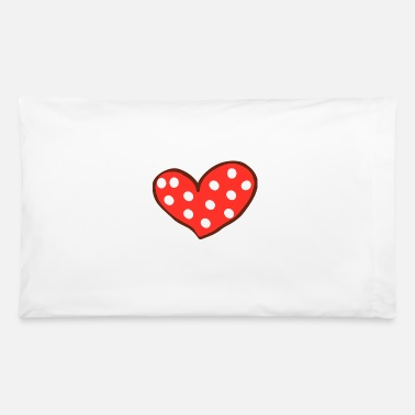 I Love Red Heart I Love You Valentines Day - Pillowcase 32'' x 20''