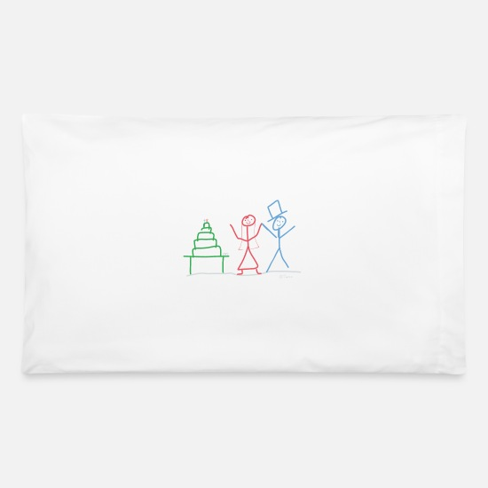 Married Couple Pillow Cases - Married couple - Pillowcase 32'' x 20'' white