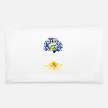 Born In Living in Montana With New Mexico Roots - Pillowcase 32'' x 20''