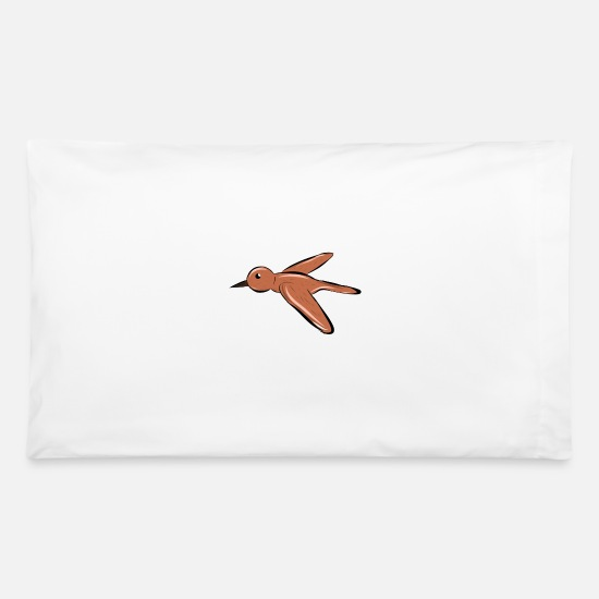 Flight Pillow Cases - Bird - Pillowcase 32'' x 20'' white