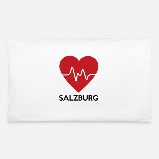Salzburg Pillow Cases - Heart Salzburg - Pillowcase 32'' x 20'' white
