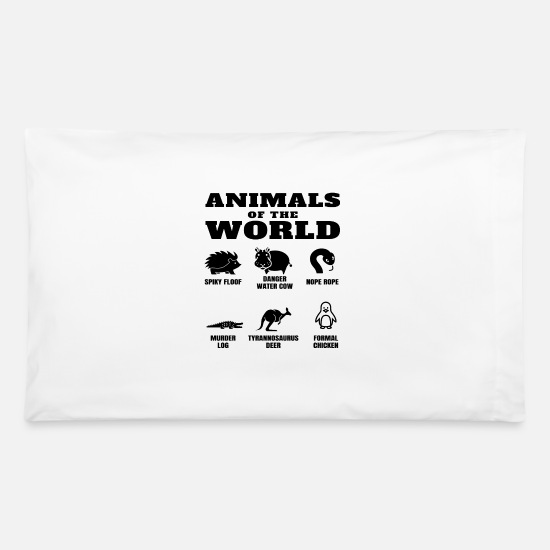 Funny Names Animals Of The World Internet Meme Pillowcase 32'' x 20'' -  white